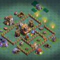 Расстановка 4 ДС в деревне строителя