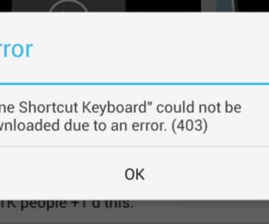 Ошибка 403 при скачивании клэш оф кланс на андроид