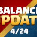 Изменение баланса игры Клэш Рояль от 24 апреля