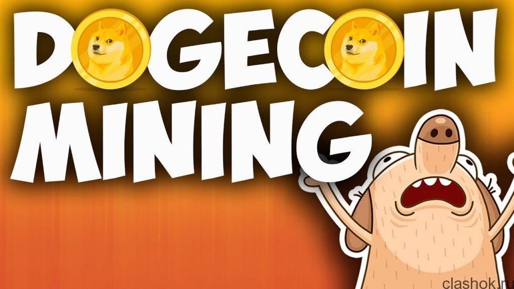 майнинг DOGE coin на сайте clashok.ru